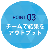POINT03 チームで結果をアウトプット